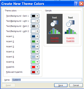 create theme colors pane