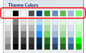 color selection pane